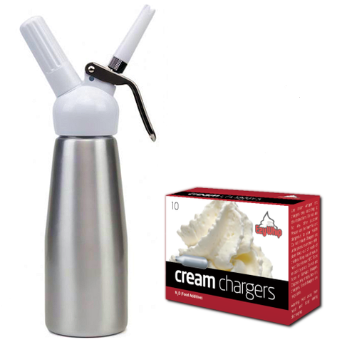 Whipped Cream Canister and Cream Chargers