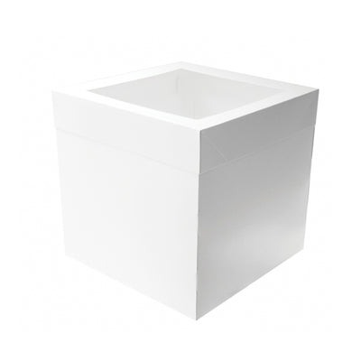 "Tall Cake Box 14 x 14 x 12""- Includes Separate Lid"