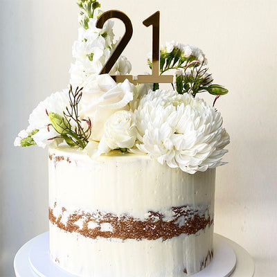 Acrylic/Wooden Cake Topper - Number