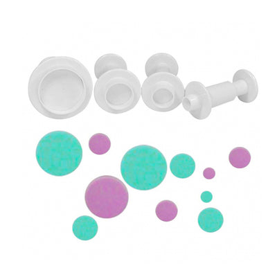 Round Plunger Cutters- 4piece Set