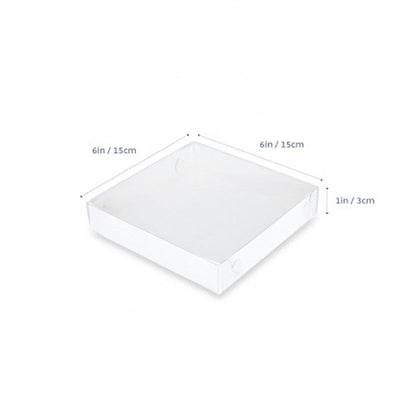 "Cookie Box - 6"" x 6"" x 1"" - CLEAR LID- 10pack"