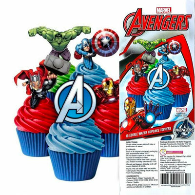 Cupcake Wafer Shapes - Avengers 16 pieces