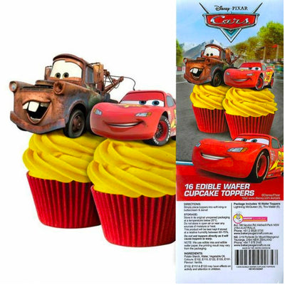Cupcake Wafer Shapes - Disney Cars 16 pieces