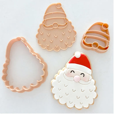 Little Biskut - Cookie Cutter and Embosser Set - Santa