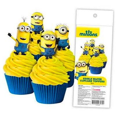 Cupcake Wafer Shapes - Minion 16 pieces