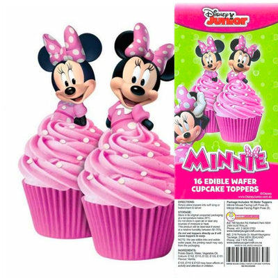 Cupcake Wafer Shapes - Minnie Mouse 16 pieces