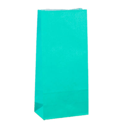 Paper Lolly Bag - Teal- 10 Pack