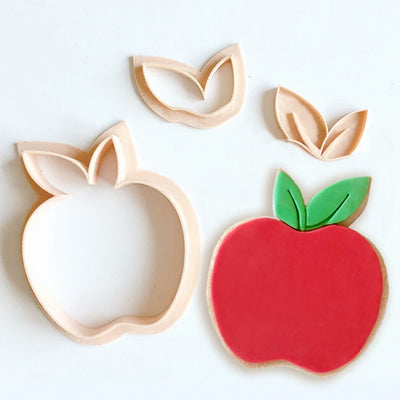 Little Bisckut-Cookie Cutter and Embosser Set - Apple
