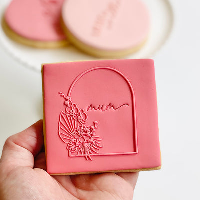 Reverse Cookie Embosser - Floral Arch (mini Mum stamp not included)