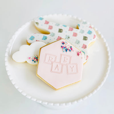 Reverse Cookie Embosser - Baby Blocks