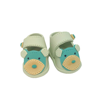 Teddy Baby Booties - Boy