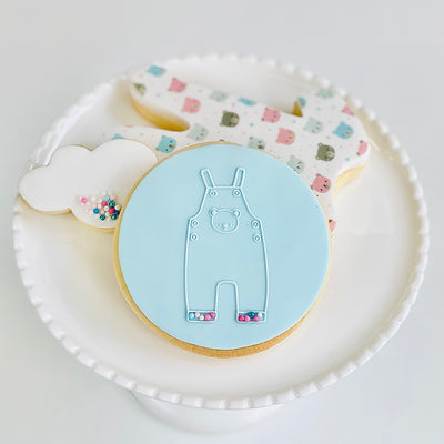 Reverse Cookie Embosser - Baby Playsuit with Teddy