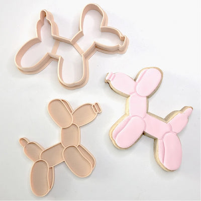 Little Biskut - Cookie Cutter and Embosser Set - Balloon Dog