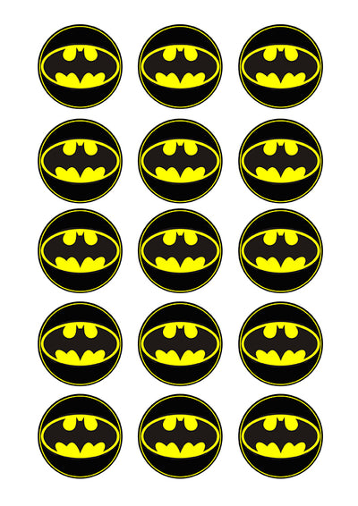 Cupcake and Cookie Wafer Toppers- Batman