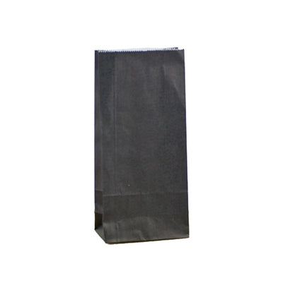 Paper Lolly Bag - Black- 10 Pack