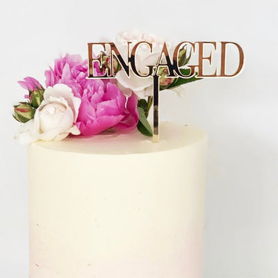 Custom Cake Topper Acrylic -  Capital Block Font -Single Line