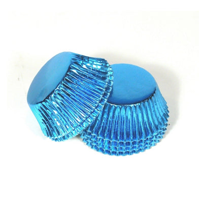 Large Cupcake papers - Metallic Blue