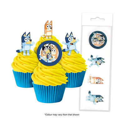 Cupcake Wafer Shapes - Bluey- 16 pieces