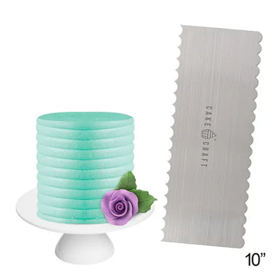 Cake Craft Decortaing Comb Scraper- Curved Design
