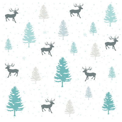 Wafer Paper - Winter Christmas Forest