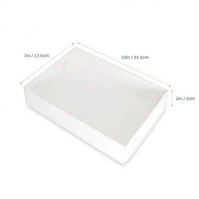 "Cookie Box - 10"" x 7"" x 2"" - CLEAR LID- 10 Pack"