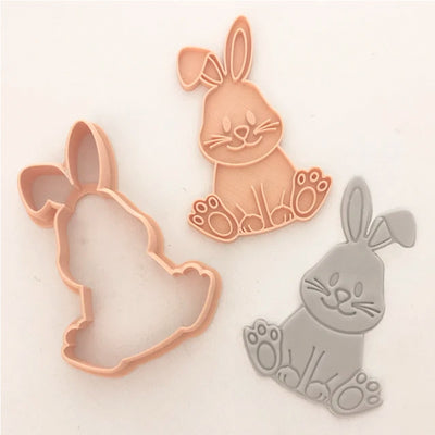 Little Biskut Cookie Cutter and Embosser Set - Cute Bunny