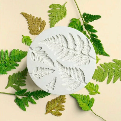 Silicone Mould - Detailed Fern Leaves