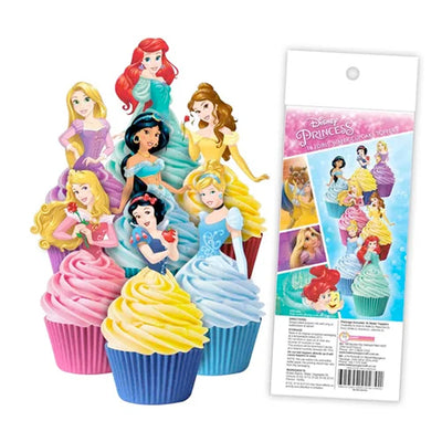 Cupcake Wafer Shapes - Disney Princess - 16 pieces