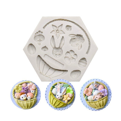 Silicone Mould - Easter Basket Elements