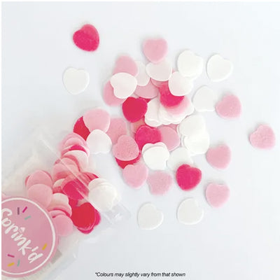 Sprink'd Wafer Paper Shapes Decorations - Pink Ombre Hearts