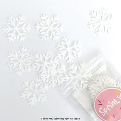 Sprink'd Wafer Paper Shapes Decorations - Snowflakes