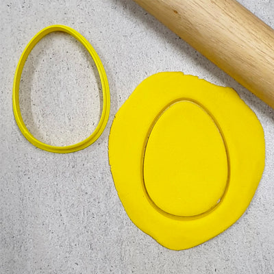 Cookie Cutter - Egg Shape-  2.5inch (63mm)