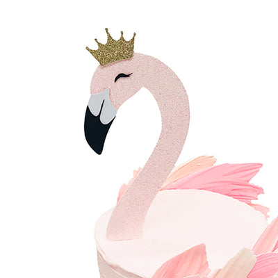 Flamingo Head Cake Topper