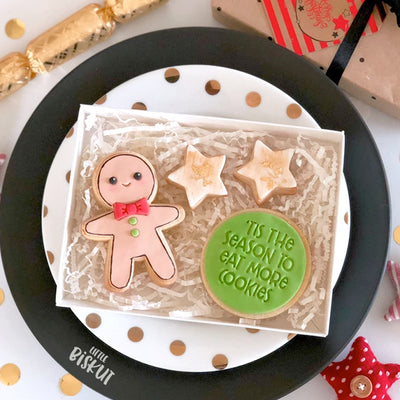 Little Biskut - Cookie Cutter and Embosser Set - Gingerbread man