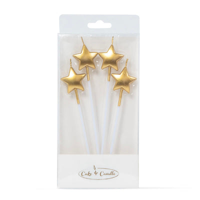 Star Candles - Gold