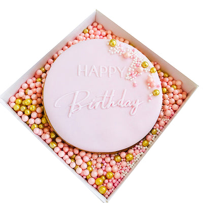 NEW Reverse Cookie Embosser - Happy Birthday