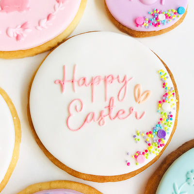 NEW Reverse Cookie Embosser - Happy Easter
