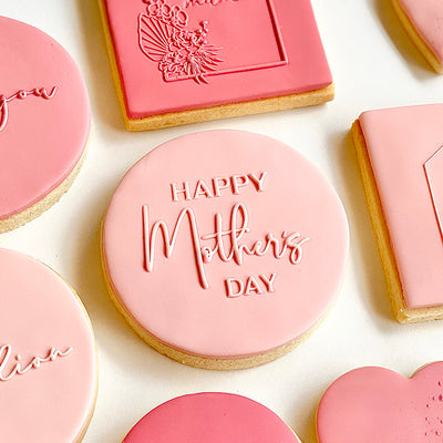Reverse Cookie Embosser - Happy Mothers Day - Mixed Font