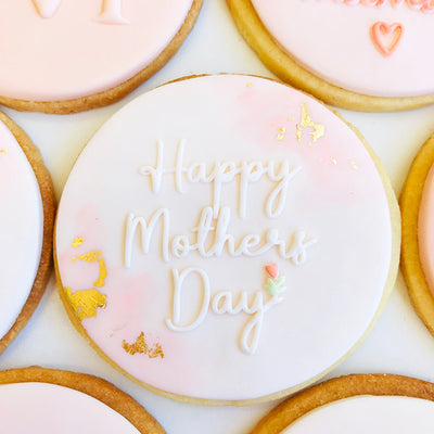 NEW Reverse Cookie Embosser - Happy Mothers Day