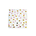 Pink and Gold Heart Napkins