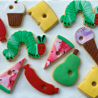 Cookie Cutter and Embosser Set - Hungry Caterpillar and Food Set