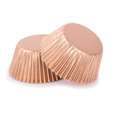 Large Cupcake papers - Metallic Rose Gold