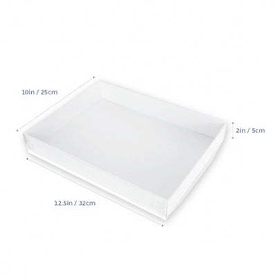 Large Cookie Box  with Clear Lid- 12.5x10x2inch- 10pack