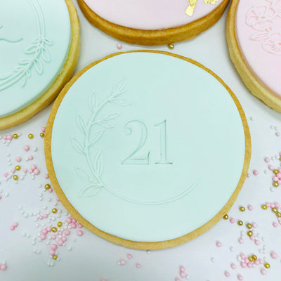 NEW Reverse Cookie Embosser - Botanical Elements - Leaf Details