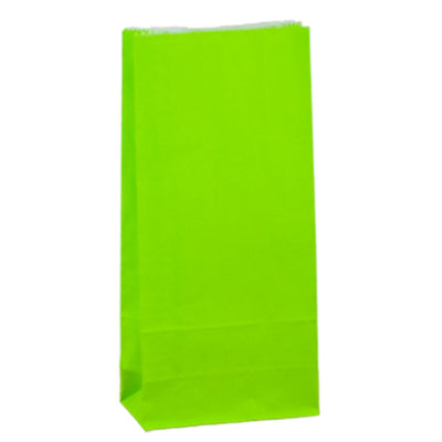 Paper Lolly Bags - Green- 10 Pack