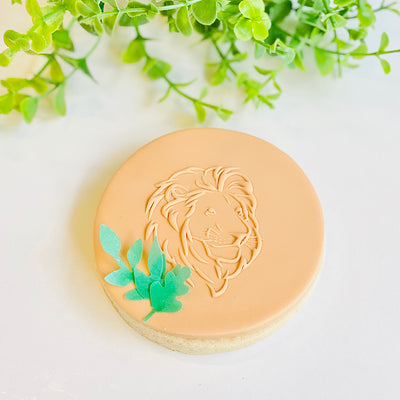 Reverse Cookie Embosser - Lion Face