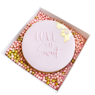 NEW Reverse Cookie Embosser - Love is Sweet