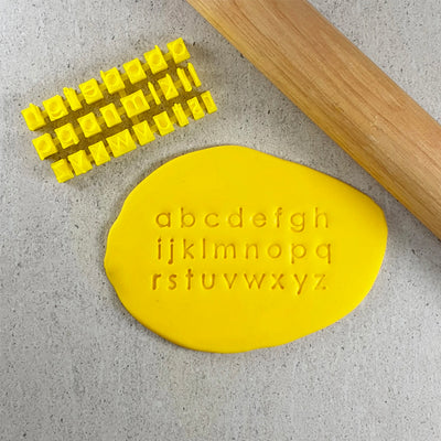 Modern Font Alphabet Stamp Set - Lowercase