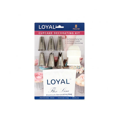 Loyal Cupcake Decorating Kit- 8 piece Set