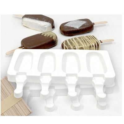 Loyal Silicone Popsicle Moulds Small - ( includes 2x 4 Cavity moulds)